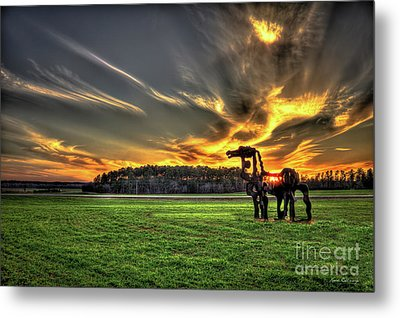 Metal Print featuring the photograph The Iron Horse Sunset by Reid Callaway