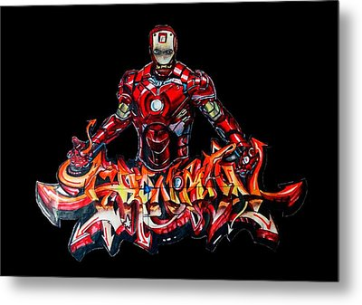 The Ironman  Metal Print by Chiranjib Bhorali
