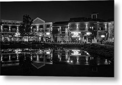 The Island Shops In Black And White Metal Print by Greg Mimbs