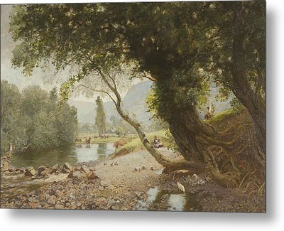 The Ivy, The Oak And The Bonnie Birken Tree Metal Print by David Murray