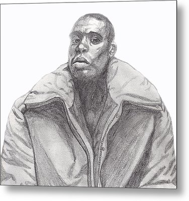 Metal Print featuring the drawing The Jacket by Jean Haynes