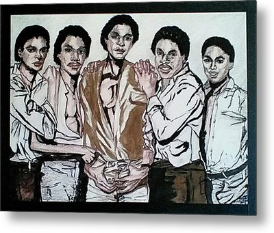 The Jacksons Five  Metal Print
