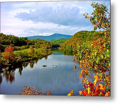 The James River Early Fall Metal Print by The American Shutterbug Society