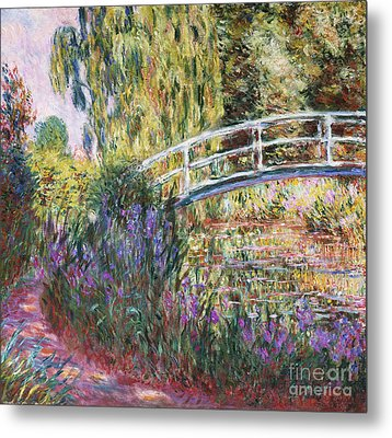 The Japanese Bridge Metal Print by Claude Monet