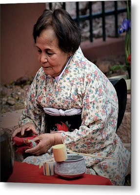 The Japanese Tea Ceremony Metal Print