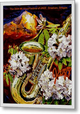 The Jazz Poster That Never Was Metal Print by Mike Hill