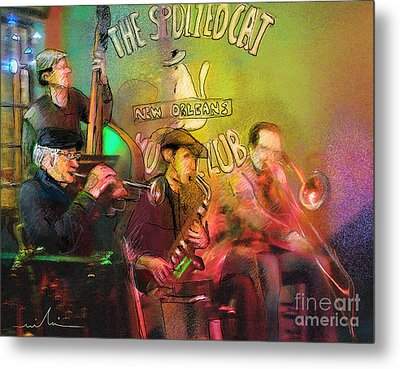 The Jazz Vipers In New Orleans 02 Metal Print by Miki De Goodaboom