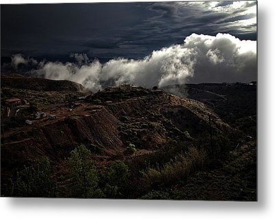 Metal Print featuring the photograph The Jerome State Park With Low Lying Clouds After Storm by Ron Chilston