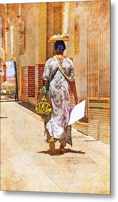Metal Print featuring the photograph The Jewelry Seller - Malaga Spain by Mary Machare