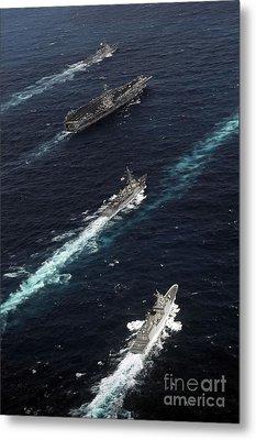 The John C. Stennis Carrier Strike Metal Print by Stocktrek Images