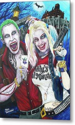 The Joker And Harley Quinn Metal Print