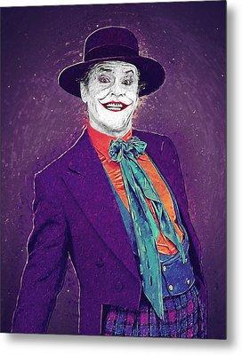 The Joker Metal Print by Taylan Apukovska
