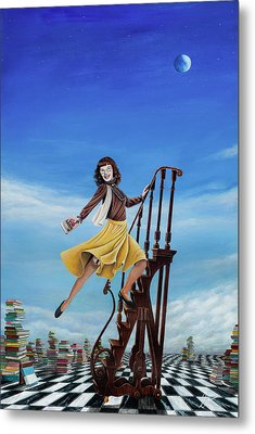 The Journey Of A Librarian Metal Print by Cindy D Chinn