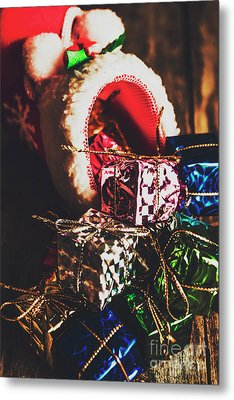 The Joy Of Giving On Christmas Metal Print by Jorgo Photography - Wall Art Gallery