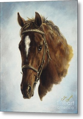 Metal Print featuring the painting The Jumper by Cathy Cleveland