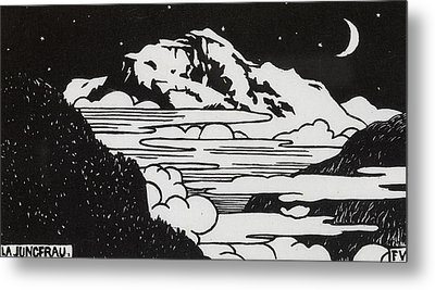 The Jungfrau Metal Print by Felix Edouard Vallotton