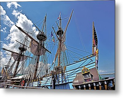 Metal Print featuring the photograph The Kalmar Nyckel - Delaware by Brendan Reals