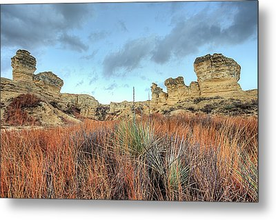 Metal Print featuring the photograph The Kansas Badlands by JC Findley