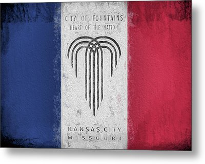 Metal Print featuring the digital art The Kansas City Flag by JC Findley