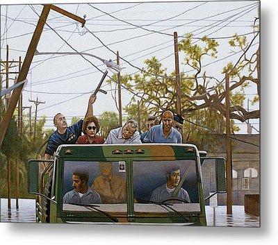 The Katrina Aftermath Metal Print by Curtis James