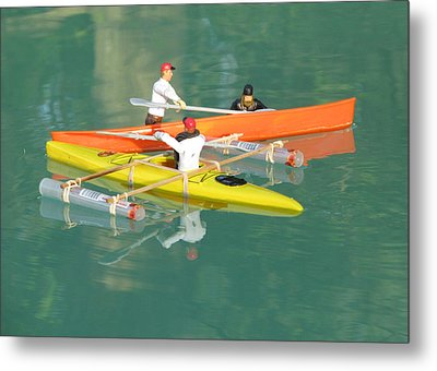 The Kayak Team 12 Metal Print by Digital Art Cafe