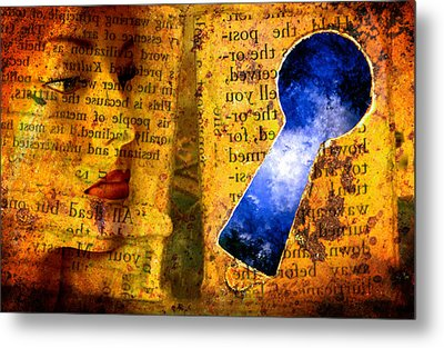 The Key Hole Metal Print