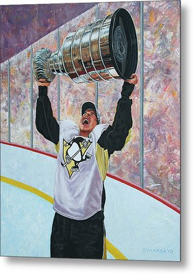The Kid And The Cup Metal Print