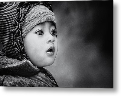 The Kid From Sarangkot Metal Print by Piet Flour