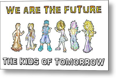 Metal Print featuring the digital art The Kids Of Tomorrow by Shawn Dall