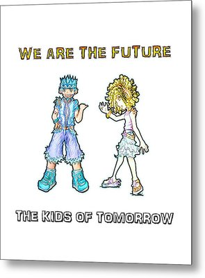 Metal Print featuring the digital art The Kids Of Tomorrow Toby And Daphne by Shawn Dall