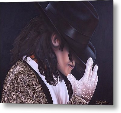 The King Of Pop Metal Print by Darren Robinson