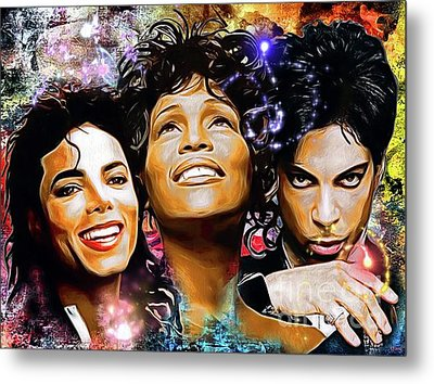 The King, The Queen And The Prince Metal Print