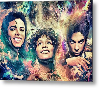 The King The Queen The Prince Metal Print by Sampad Art