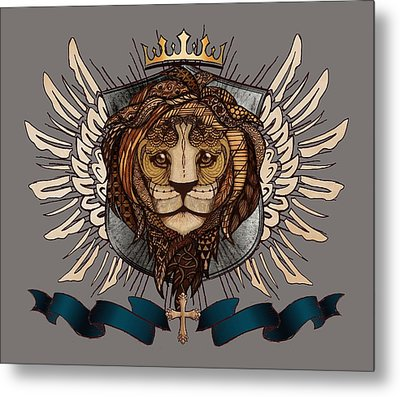 The King's Heraldry II Metal Print