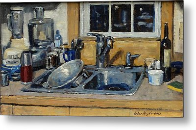 The Kitchen Sink Metal Print by Thor Wickstrom