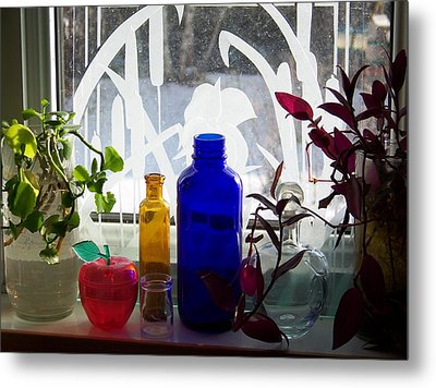 The Kitchen Window Sill Metal Print