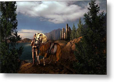 The Knight Of The Kingdom Metal Print by Virginia Palomeque