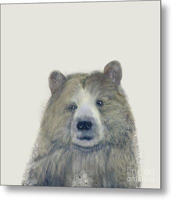Metal Print featuring the painting The Kodiak Bear by Bri B