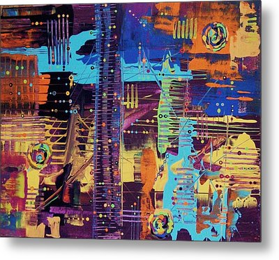 The La Sky On The 4th Of July Metal Print