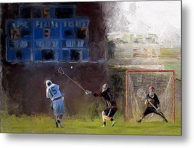 The Lacrosse Shot Metal Print