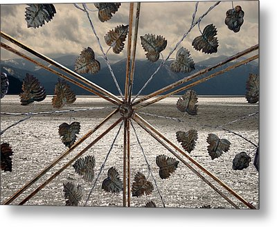 The Lake Gate Metal Print