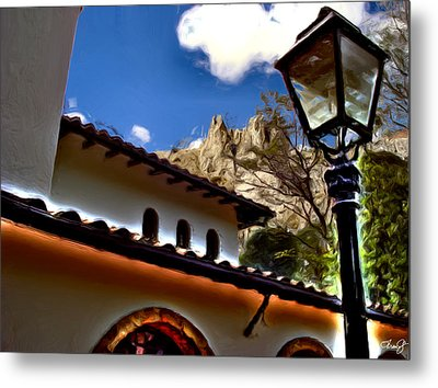 The Lamp Post Metal Print by Francisco Colon