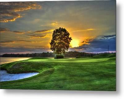 The Landing Golf Course Reynolds Plantation Metal Print by Reid Callaway