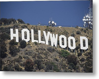 The Landmark Hollywood Sign Metal Print by Richard Nowitz
