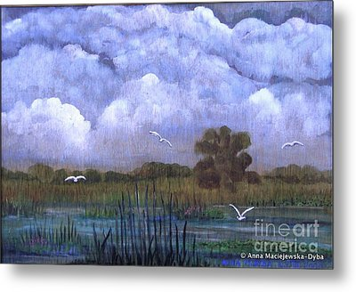 The Landscape With The Clouds Metal Print
