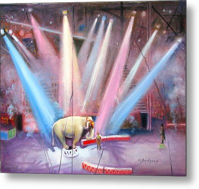 The Last Circus Elephant Metal Print by Oz Freedgood