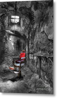 The Last Cut- Barber Chair - Eastern State Penitentiary Metal Print by Lee Dos Santos