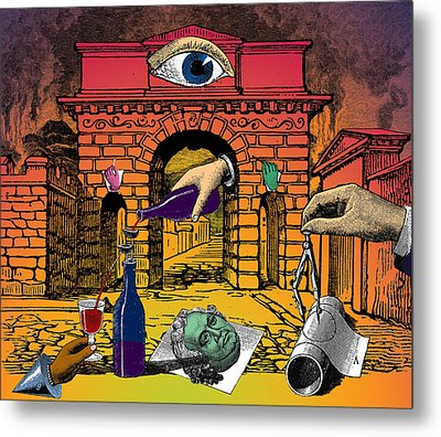 The Last Days Of Herculaneum Metal Print by Eric Edelman