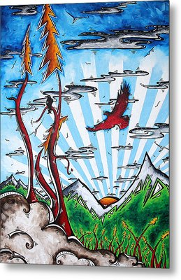 The Last Frontier Original Madart Painting Metal Print
