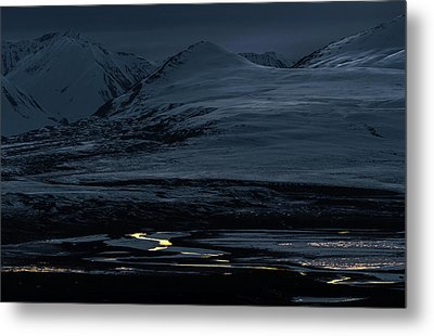 The Last Glimmer Metal Print by Ron Day
